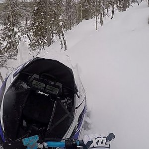 Arctic Cat Alpha One 154'' | Deep & Steep hills and wet snow - YouTube