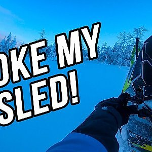 BROKE MY SLED! | Ski-Doo Freeride 146 - YouTube